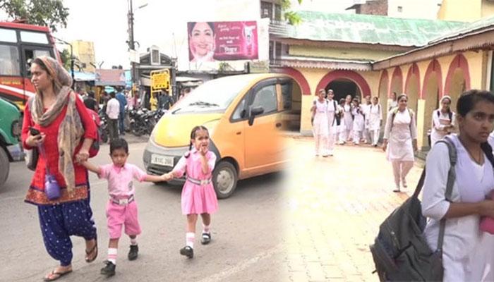 घाटी में खुले स्कूल-कॉलेज, सुरक्षाबल चप्पे-चप्पे पर तैनात